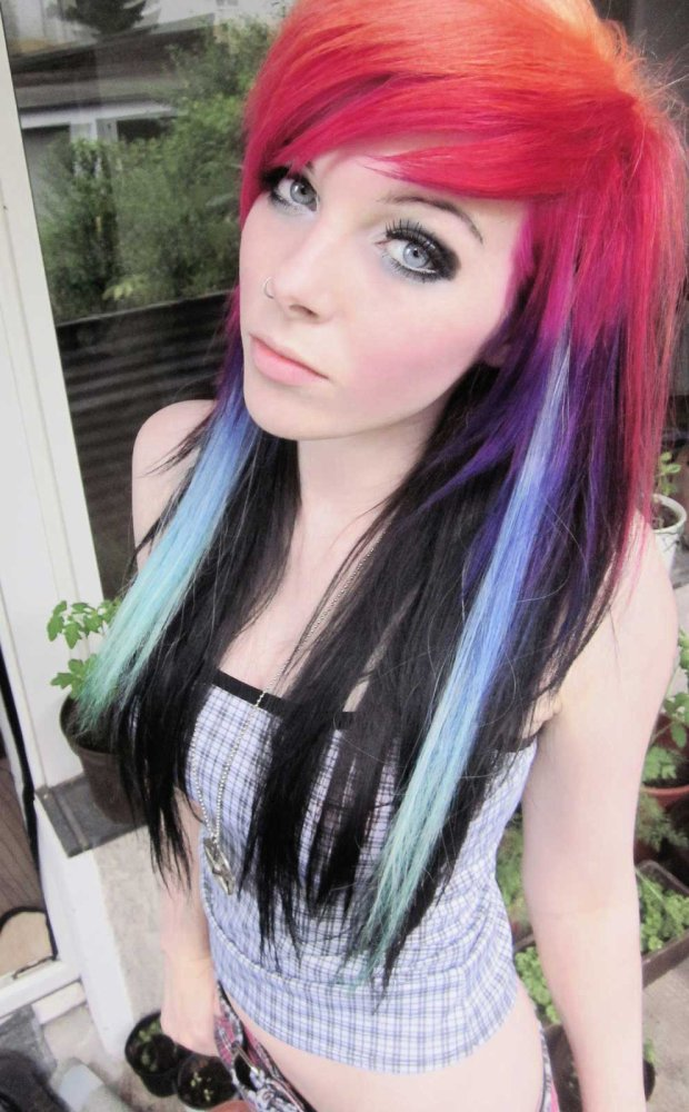 Album ira vira emo girl scene queen germany colorful hair style